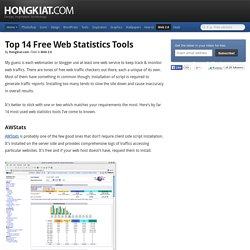 Top 14 Free Web Statistics Tools