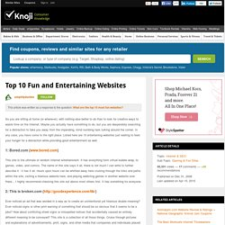 Top 10 Fun and Entertaining Websites