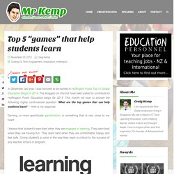 "Top 5 ""games"" that help students learn"