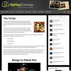Top Hip Hop Songs - HipHopComeup
