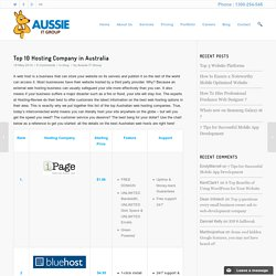 Top 10 Hosting Company in Australia