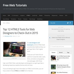 Top 12 HTML5 Tools for Web Designers