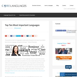 Top 10 important languages to learn