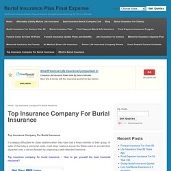 Top Insurance Company For Burial Insurance