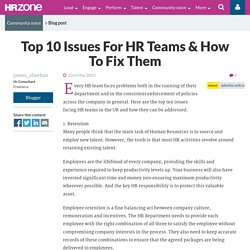 Top 10 Issues For HR Teams & How To Fix Them