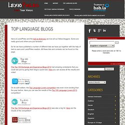 Top Language Blogs and Podcasts
