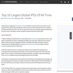Top 10 Largest Global IPOs Of All Time