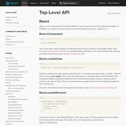 Top-Level API