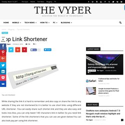 Top Link Shortener - The Vyper