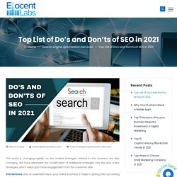Top List of Do's and Don'ts of SEO in 2021