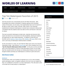 Top Ten Makerspace Favorites of 2015