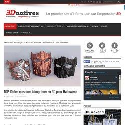 TOP 10 des masques à imprimer en 3D pour Halloween