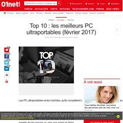Le top 10 des meilleurs PC ultraportables