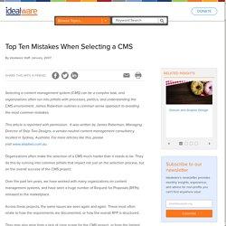 Top Ten Mistakes When Selecting a CMS