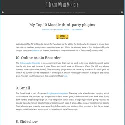 My Top 10 Moodle third-party plugins -