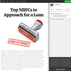 Top NBFCs to Approach for a Loan