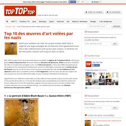 Top 10 des œuvres d'art volées par les nazis