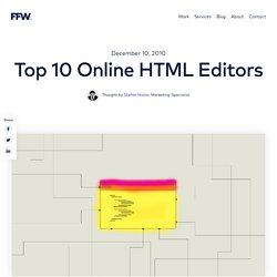 Top 10 Online HTML Editors