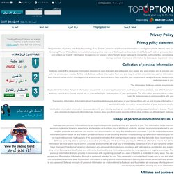 Top Option – Privacy Policy