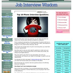 Top 10 Phone Interview Questions