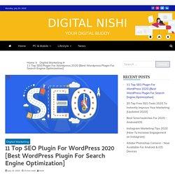 11 Top SEO Plugin For Wordpress 2020 [Best SEO Plugin For WordPress]