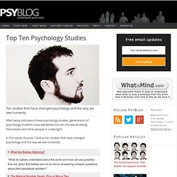 Top Ten Psychology Studies