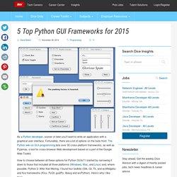 5 Top Python GUI Frameworks for 2015