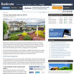 10 Top Real Estate Tips For 2015