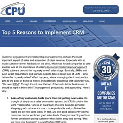 Top 5 Reasons to Implement CRM