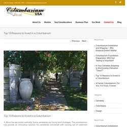 Top 10 Reasons to Invest in a Columbarium