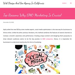 Top Reasons Why SMO Marketing Is Crucial