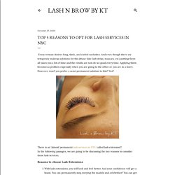 Top 5 Reasons to opt for Lash services in NYC