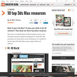 10 top 3ds Max resources
