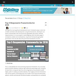Top 5 Responsive Frameworks for 2016