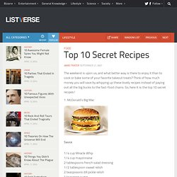 Top 10 Secret Recipes