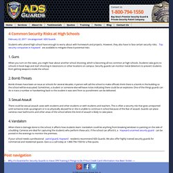 Top 4 Security Risks at a High School