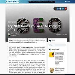 Top SEO trends you need to know in 2021