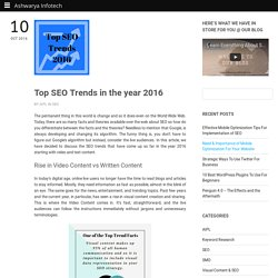 Top SEO Trends in the year 2016