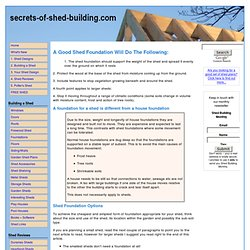 Top Shed Foundation Solutions