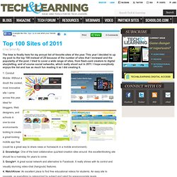 Top 100 Sites of 2011