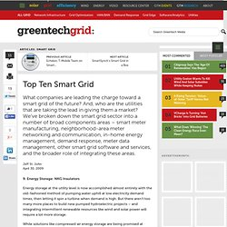 Greentech Media: Top Ten Smart Grid