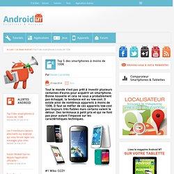 Top 5 des smartphones à moins de 100€ Android MT
