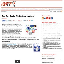 Top Ten Social Media Aggregators