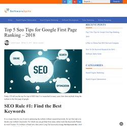 Top 5 Seo Tip - Software Xprt