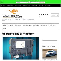 Top 6 Solar Thermal Air Conditioners