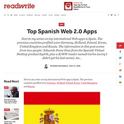 Top Spanish Web 2.0 Apps