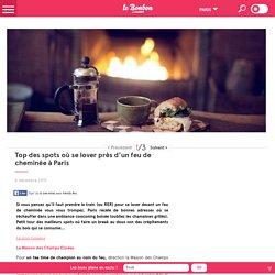 Top des spots où se lover près d'un feu de cheminée à Paris