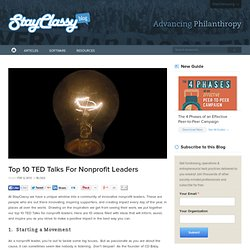 Top Ten TED Talks for Nonprofit Leaders