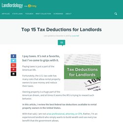 Top 15 Tax Deductions for Landlords