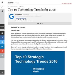 Top 10 Technology Trends for 2016